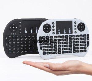 Dokunmatik İçin Android Tv Box Laptop ile I8 Mini Kablosuz Klavye 2 .4ghz İngilizce Arapça Rusça İbranice QWERTY klavye