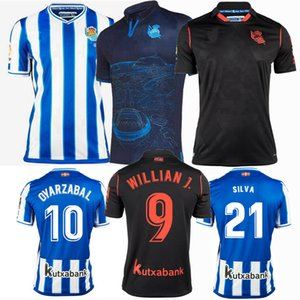 2020 2021 Real Sociedad Jerseys de fútbol Jeruzaj Oyarzabal Silva Juanmi Merino Home Aloy Away Away 3rd Men and Kids Boys 20 21 Camisa de Fútbol