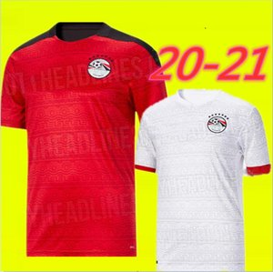 Nuevo Egipto 2020 2021 camiseta de fútbol M. SALAH Inicio rojos blancos ausentes 20 21 Kahraba A. HEGAZI RAMADAN uniformes jerseys camisetas footbal