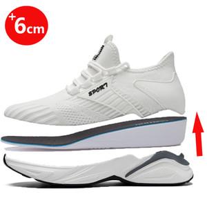 Aufzug Schuhe Herren Sneakers Höhe zunehmender beiläufigen Sportschuh Aufstockung Taller erhöht Einlegesohle 6cm