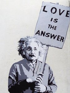 Banksy Street Art Love Einstein Home Decoration Handpainted &HD Print Oil Painting On Canvas Wall Art Canvas Pictures For Living Room 200901