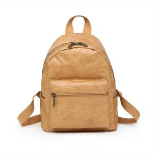 Unisex Backpack 2019 NEW Kraft Paper Bag Foldable Decompressed Washable Tear resistant Environmental friendly Women amp; Male