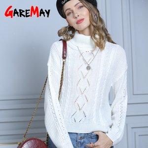 GareMay Rollkragenpullover Winter Kleider Frauen 2020 Strickjacke-Frauen koreanische Harajuku Plus Size Turtleneck Kleid