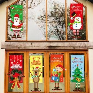 Xmas Висячего флаг Подвесок Merry Christmas Decor Home Window украшение Рождество дверь орнамент 2020 нового года подарок 20pcs T1I2253