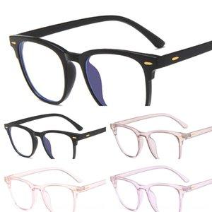 2020 color M nail anti-Bluecollege style plain TR90 jelly fashion Glasses transparent square glasses frame 0KdqU
