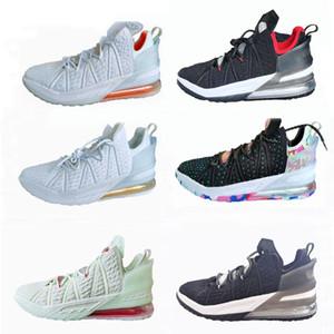 18 James Gang Gelecek Oreo Siyah Üniversitesi Kırmızı Beyaz Kadınlar Basketbol ayakkabıları Sıcak Satış 18s Jade Erkekler Tasarımcı Sneaker Trainer CQ9283-001 Lebron