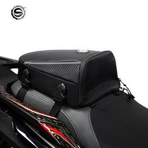 Ciel étoilé Chevalier 9L moto queue noire Sac à dos siège Sacs Café Racer Alforjas Para Moto Moto Racing Rider Saddlebags