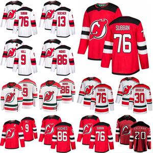 New Jersey Devils Eishockey Trikots 9 Taylor Hall Jersey 86 Jack Hughes 76 P. K. Subban 13 Nico Hischier 30 Martin Brodeur genähtes