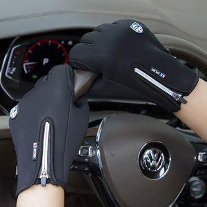 Warm im Winter Fahrradhandschuh wasserdicht winddicht Anti-Rutsch-Außen Thermal Handschuhe plus Samt Männer Frauen Zipper Screen-Handschuhe VT1697