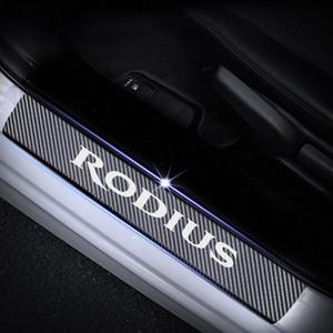 Per ssangyong rodius porta davanzale protettore riflettente 4d fibra di carbonio fibra adesivo porta ingresso guardia davanzale car styling tappetini auto e sterzo ygol #