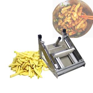inoxidable máquina de patatas fritas de corte de acero patatas fritas comercial cortadora de cuchilla de ondulación de alta calidad de la máquina máquina de cortar Manual onda patata