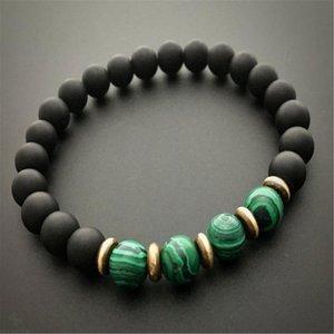 8mm natürliche Malachit Handgemachte Mala Armband Chakas glückliche Handgelenk Pray Cuff Meditation Ruyi