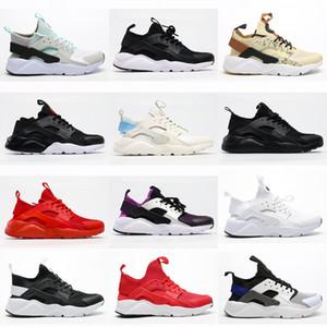Huarache Erkekler Bayan Ayakkabı Koşu Ayakkabıları Siyah Kırmızı Beyaz Spor Trainer Yastık Yüzey Nefes Spor Ayakkabı 3645
