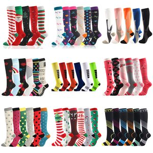 Men Women Compression Socks Fit For Sports Compression Socks For Anti Fatigue Pain Relief Knee Prevent Varicose Veins Socks CX200817
