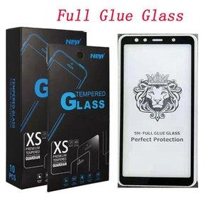 Retail Tela Glue Curvo Temperado With Full vidro Pacote J8 Borda J3 completa Glue 2018 Para J7 250 Protector 2018 Prime qyluL allguy