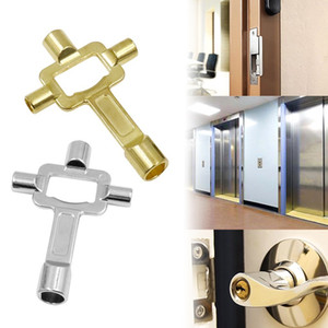 Multi-function 4-in-1 Spanner Key Wrench Socket Key Train Electrical Cupboard Box Elevator Cabinet Faucet Valve Switch