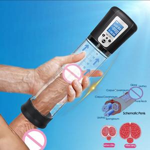 Ingranditore Dick allargamento erezione Vacuum Pump automatica Extender elettrica Big Penis barella Enhancer per gli uomini
