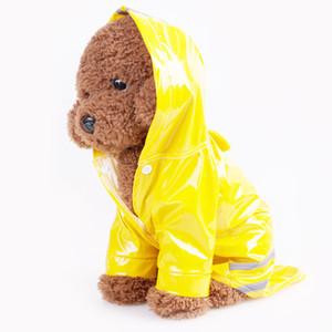 الكلب الملابس الحيوانات الأليفة الكلب الملابس في الهواء الطلق الجرو الحيوانات الأليفة معطف المطر S-XL سترات مضادة للماء مقنعين معطف واق من المطر PU انعكاس للكلاب قطط الملابس