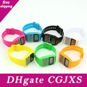Children Electronic Calculator Silicone Date Multi -Purpose Keypad Wrist Watch