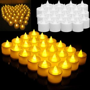 LED Mum Işığı Dumansız Alevsiz Elektronik Flaş Çoklu Renkler Işık Mum Lamba Weding Parti Dekoru