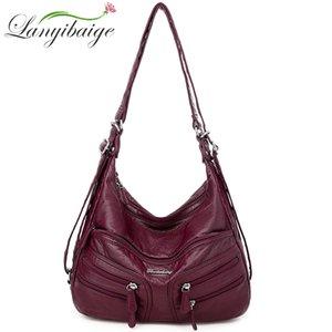 Сумки для пакетов Lanyibaige Сумки на плечо новая сумка сумки мягкая кожа женщина женщина дизайнер роскошный Crossbody для женщин 2020