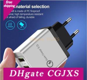 Usb carregador de parede Carregador Rápido Qc 3 .0 rápida Fast Charge carregamento 3 portas USB 3 .1a carregamento rápido para Smartphone