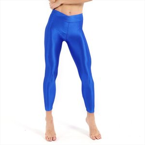 Women Shiny Neon Leggings For Women High Stretched Push Up Slim Female Legging Pants Casual Trousers For Girl Clothing Leggins