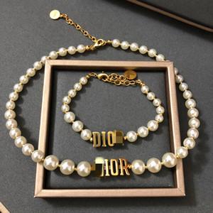 D home / di casa nuova lettera collana di perle internet lettera luce lusso popolare perla braccialetto delle donne delle donne di alta Texture