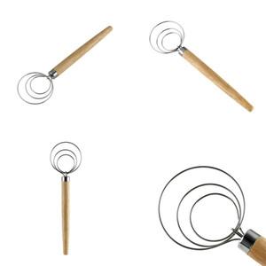 Holzgriff Blender Portable Whisk 9 Zoll Eier Mixer Backen-Werkzeuge Küche Zubehör Convenient Freies Verschiffen 3 95xd E2