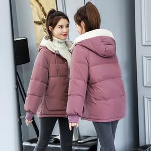 Manley Arty 2020 la chaqueta del invierno de las mujeres más el tamaño 3XL Escudo de algodón Espesar corto Parkas encapuchado Outwear Mujer La nieve caliente Abrigo