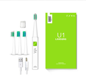 Ультразвуковая Соник электрическая зубная щетка USB Charge Аккумуляторные Зубные щетки 4 шт Сменные бритвенные головки Таймер щетки 1 порядка