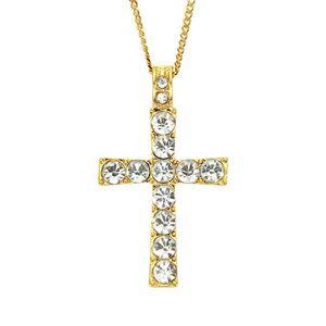 2020 designer necklace hip hop alloy golden cross pendant necklace Cuban religious Jewish pendant chain fashion accessories