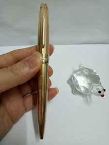 최고의 선물을위한 고품질 금속 재료 (163) 골드 몸 세로 와이어 볼펜