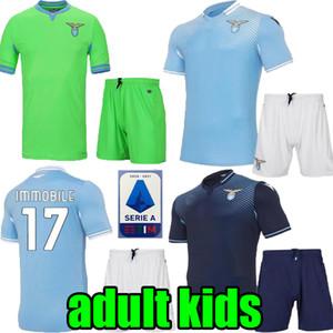 الأطفال الكبار 20 21 Lazio بعيدا غير متحرك لكرة القدم الفانيلة 2020 2021 Lazio الأخضر لويس باستوس ألبرتو سيرجج المنزل ثالث الرجال طفل قمصان كرة القدم
