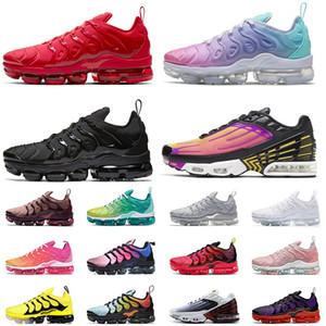 Air Vapormax Plus tn plus scarpe Maxes Vapori Inoltre Cuscini nero bianco rosso di gioco reali Hornets formatori scarpe da tennis correnti