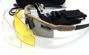 2018 SI M Рама 2,0 3 объектива Камуфляж Велоспорт Стрельба очки UV400 Тактические Солнцезащитные очки Мужчины Army баллистическую Пуленепробиваемые Goggles
