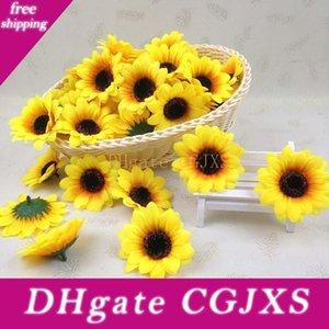 7cm Küçük Sun Flower Simülasyon Ayçiçeği Çiçek Başkanı Toptan Düğün Bilek Çiçek Aksesuarlar Ev Gelin Buketi Dekorasyon