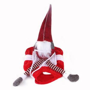 Evcil Noel Binme Kostüm Big Dog Köpek Noel Santa Doll Giyim Kış Noel Binme Cosplay Giyim GWA2336