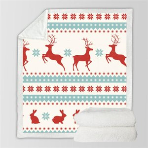 Super Soft Christmas Santa Claus Plaid Flannel Blanket Thickening Coral Blanket Baby Throws Winter Bedsheet Dropship