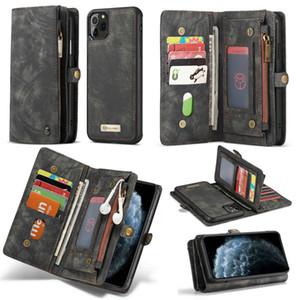 CaseMe cuero magnética desmontable de Flip Casos carpeta para el iPhone 12 11 Pro iPhone Max SE 7 8 Plus Ultra de Samsung S20 Note20