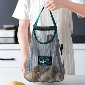 가정용 과일과 야채 파편 스토리지 가방 그리드 가방 hangable 저장 휴대용 중공 통기성 쇼핑