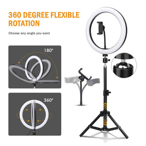 10 inch Smart Phone Photography Circle Light Dimmable LED Selfie Makeup Ring Light For Tiktok Video Studio With 160cm Tripod Stand