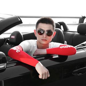 Luvas longas de carro Sun Proteção UV Mão Protector tampa do braço mangas Silk Ice protectores solares mangas auto Arm Outdoor Warmer Luvas Meio Dedo
