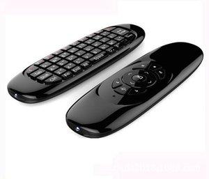 스마트 TV 미니 PC 용 자이로 스코프 플라이 에어 마우스 C120 무선 게임 키보드 안드로이드 리모콘 충전식 키보드