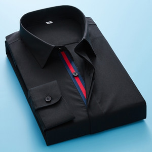 Long Sleeve Shirt Men's Casual Fashion High Quality Mens Long Sleeve Solid Oxford Dress Shirt 200925