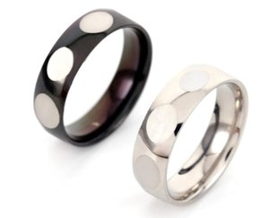 Stainless Steel Ring Metal Titanium Steel Ring Polished Egg Oval Geometric Couple Pair Ring