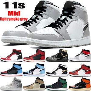 Yeni 1 Jumpman basketbol ayakkabıları 1s yüksek OG TOKYO orta ışık duman gri bir Chicago ayak siyah metalik altın erkekler kadınlar spor ayakkabıları mens