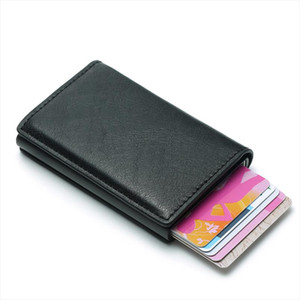 Business Rfid Card Holder Mens Wallets Money Bag Male Vintage Short Purse Small Leather Slim Wallets For Man Mini Wallet Thin