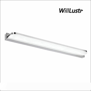 Edelstahl-Wandleuchte LED-Spiegel-Licht Hotel Restaurant Badezimmer Garderobe Ankleidezimmer Minimalist Acryl Vanity Beleuchtung