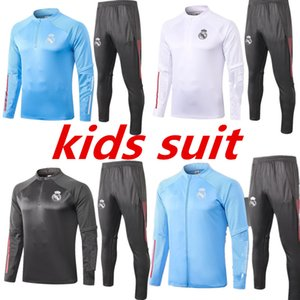 KIDS костюм 2020 реал мадрид футбол Tracksuit Беговая куртки 2021 Новый BALE Бензема Asensio ISCO Модрич Серхио Рамос Футбол спортивный костюм